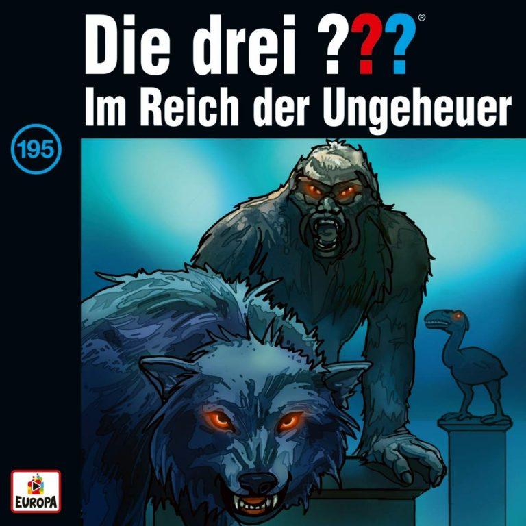 Cover der CD Die drei Fragezeichen - Folge 195 - ... im Reich der Ungeheuer
